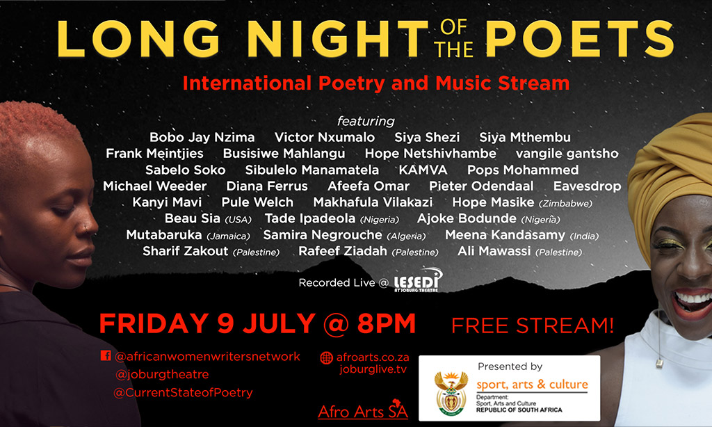 Long Night Of The Poets – International Poetry & Music – A virtual celebration